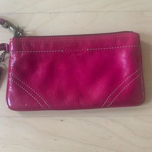 Coach Hot Pink Patent Leather Wristlet